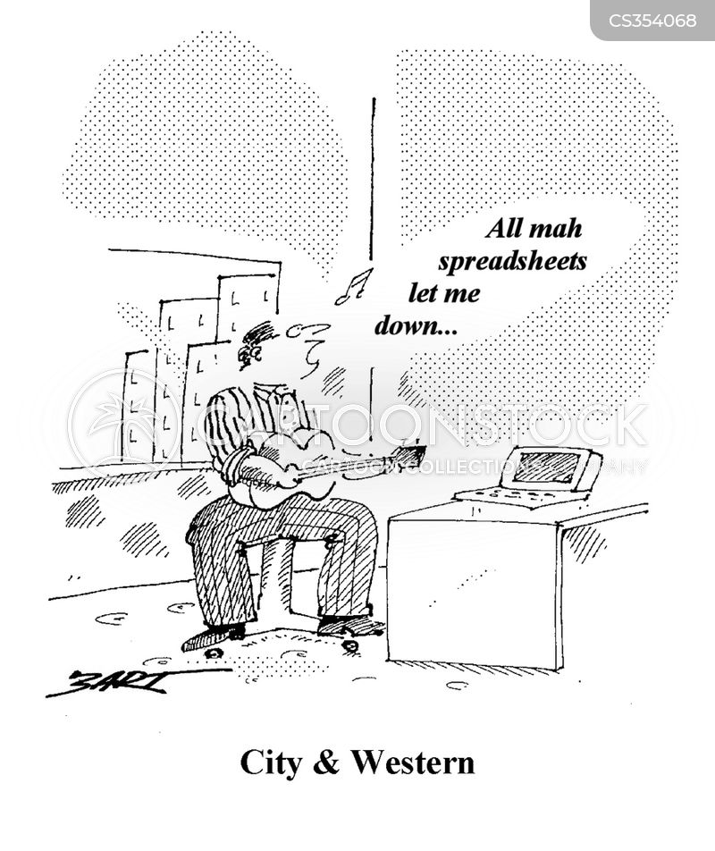 country and western cartoon