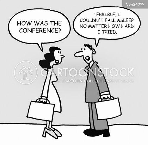 business conferences cartoon