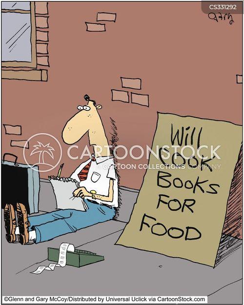 cooking books cartoon