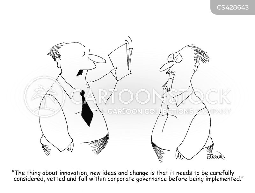 corporate policy cartoon