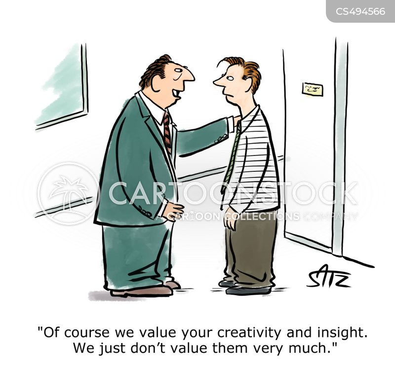 valued employee cartoon