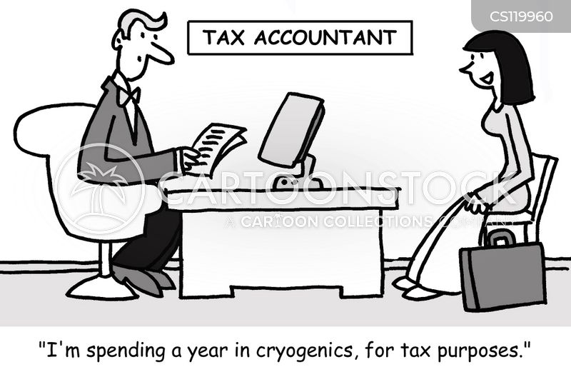 tax accountants cartoon