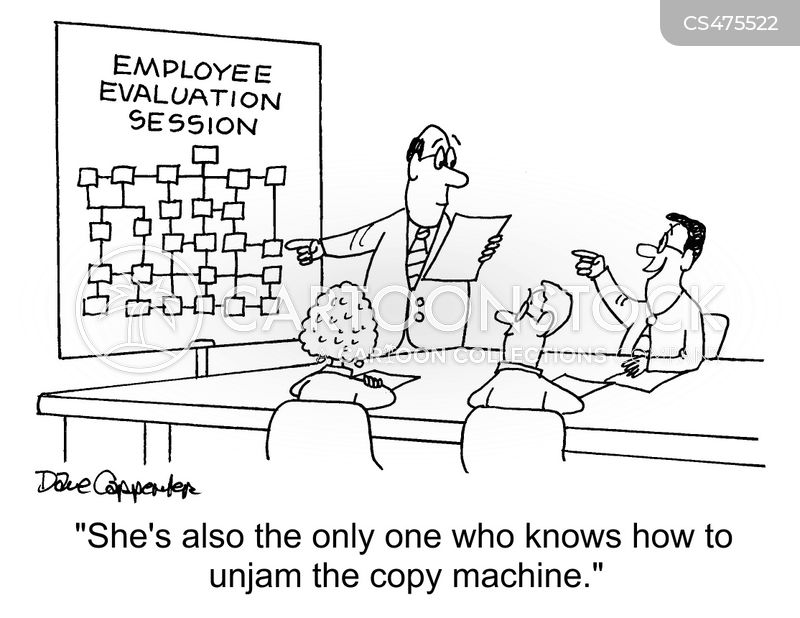 employee evaluations cartoon