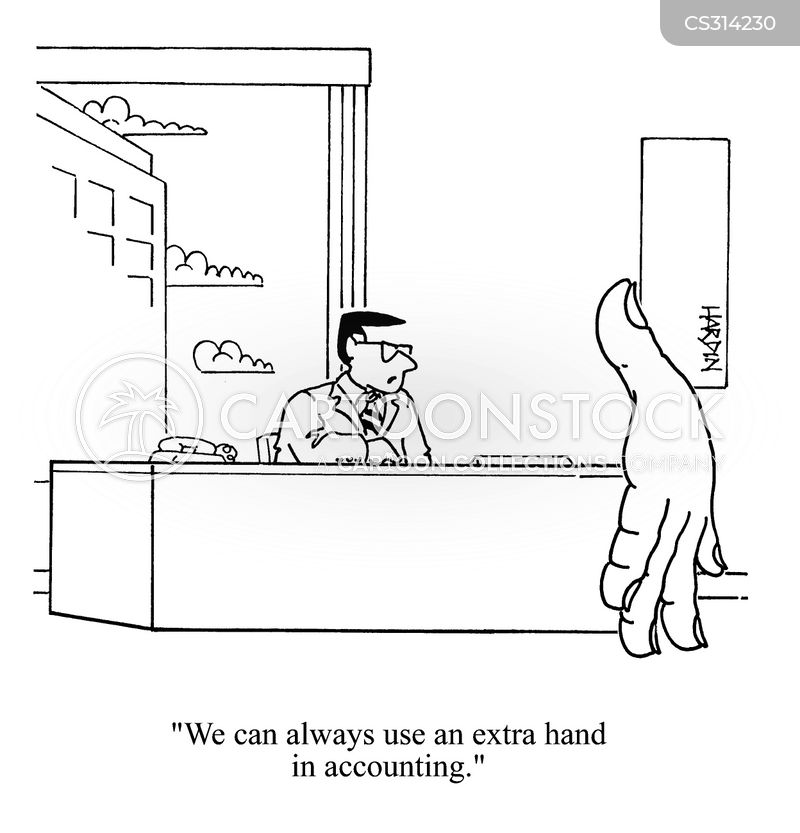 extra hand cartoon