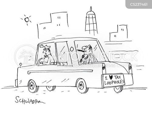 tax dodges cartoon