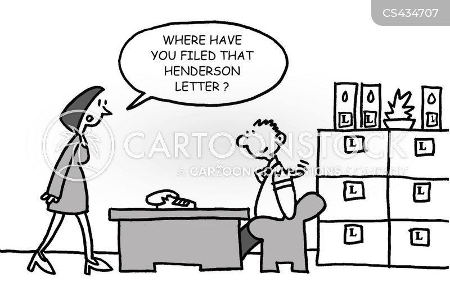 filing clerk cartoon
