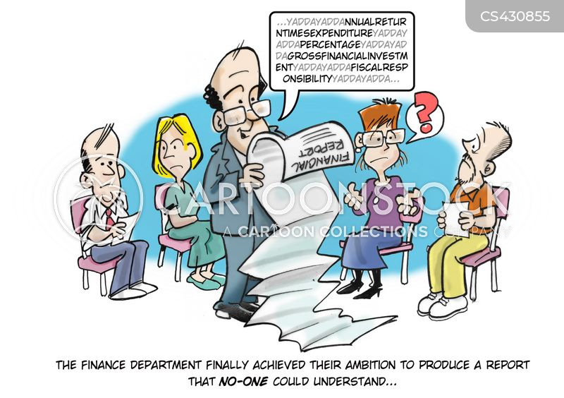 finance reports cartoon