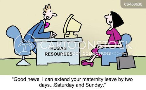 maternity pay cartoon