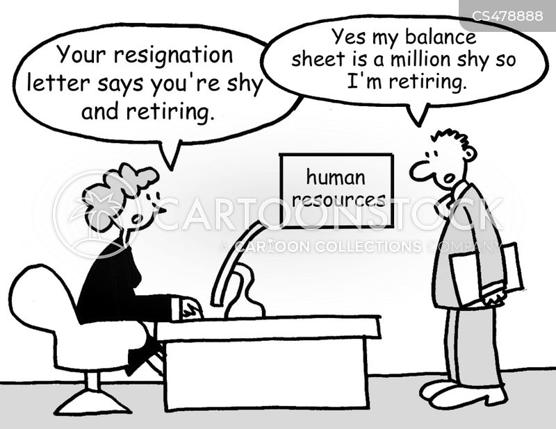resignation letter cartoon