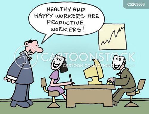 office environment cartoon