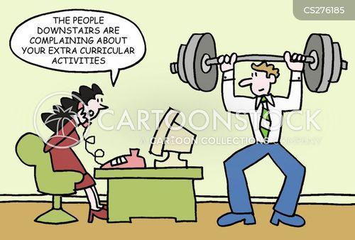 extra curricular activities cartoon