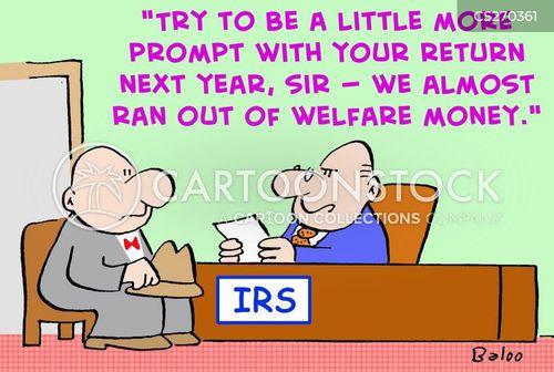 welfare money cartoon