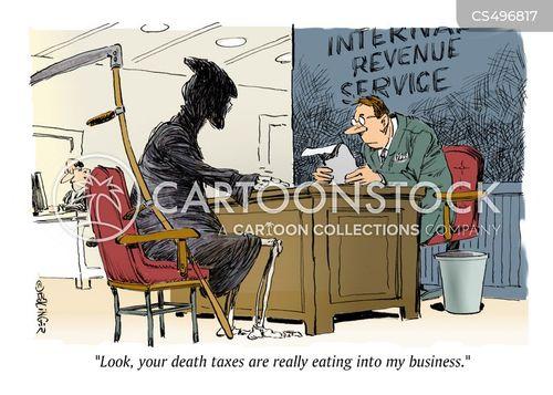 inheritance taxes cartoon