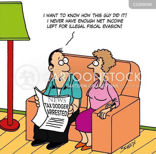 fiscal evasion cartoon