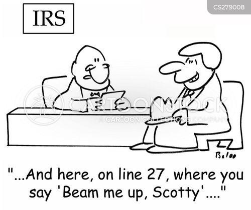 beam me up scotty cartoon