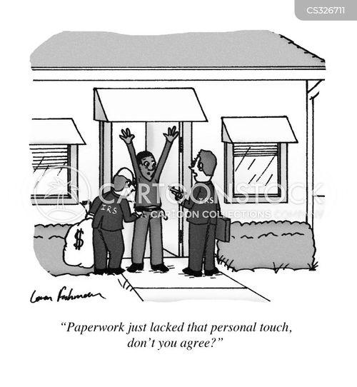 tax forms cartoon