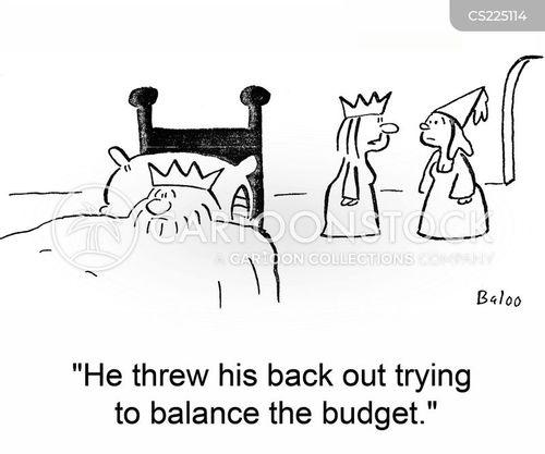 balancing accounts cartoon