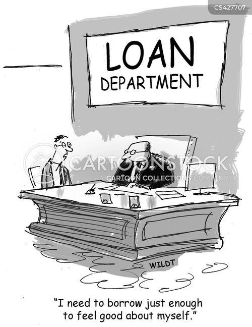 loan departments cartoon