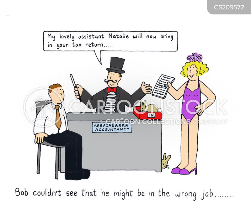 wrong job cartoon
