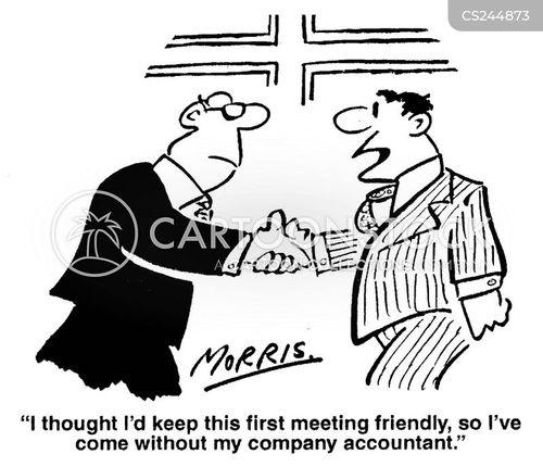 informal meeting cartoon