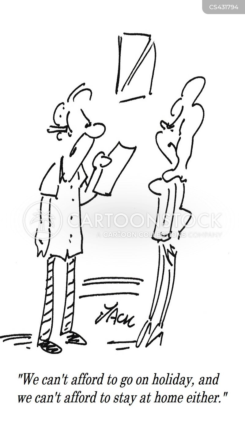 staycations cartoon