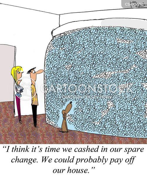 cashing in cartoon