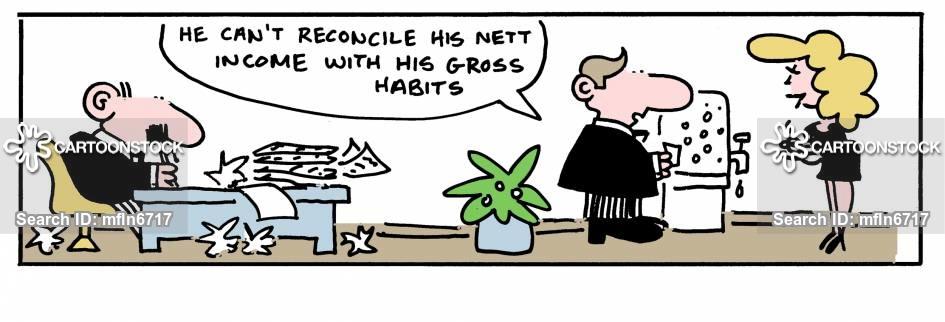 nett income cartoon