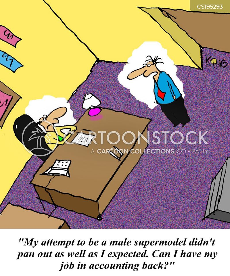 male model cartoon