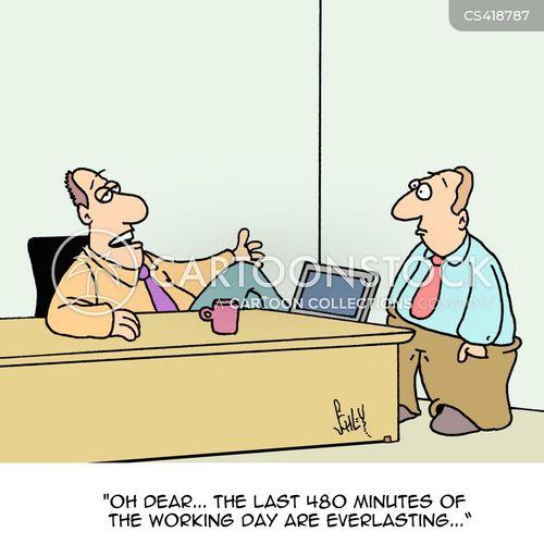 working days cartoon