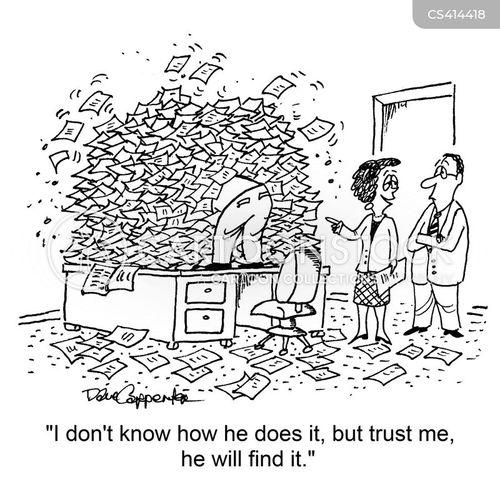 filing systems cartoon
