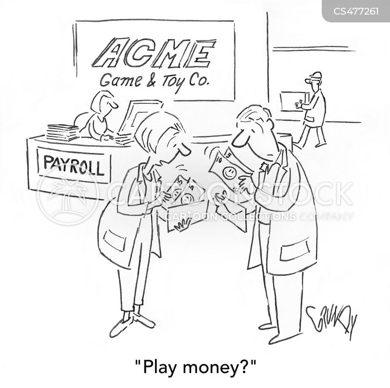 play money cartoon