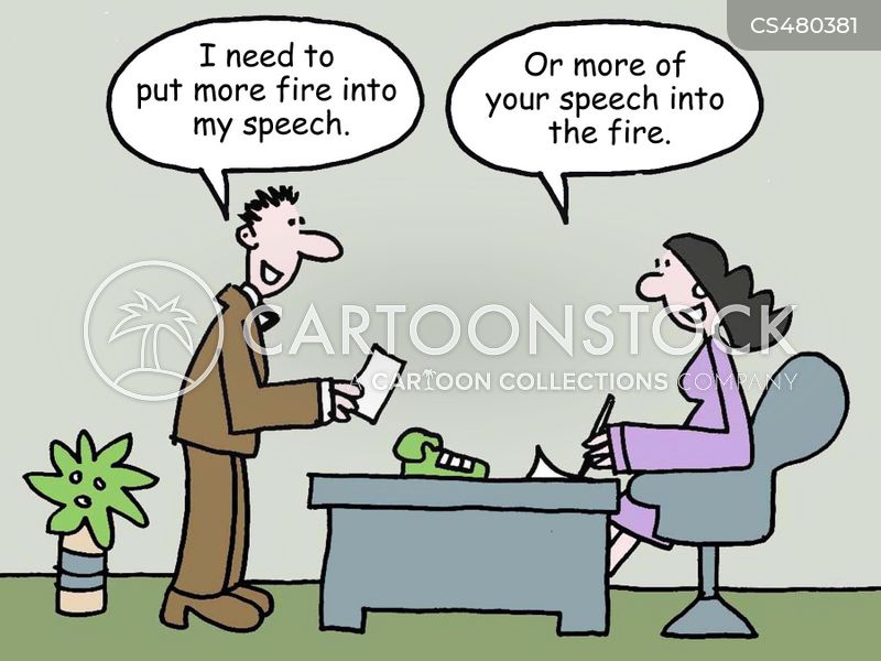 speech-writer cartoon