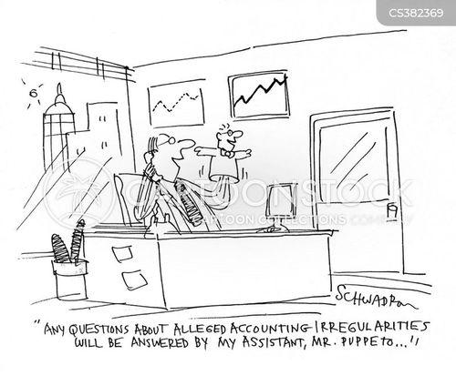 accounting irregularities cartoon