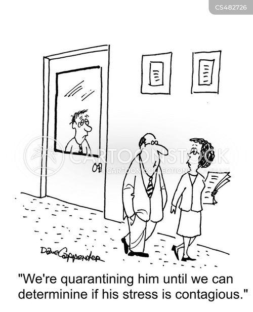 quarantined cartoon
