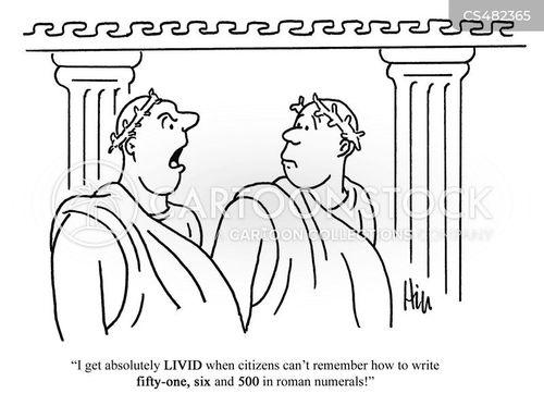 roman numeral cartoon