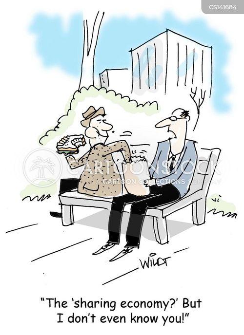 sharing economy cartoon