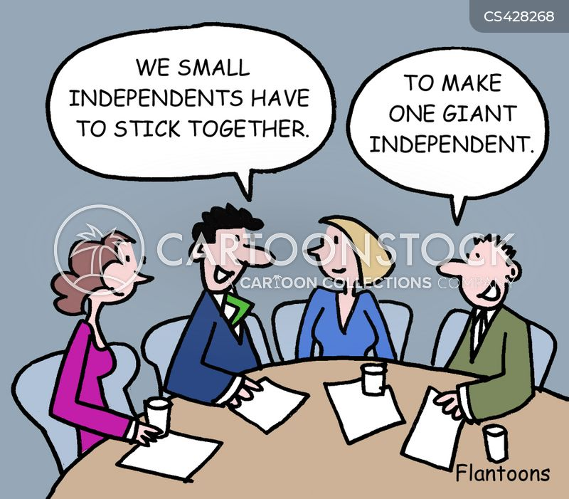 independent businesses cartoon