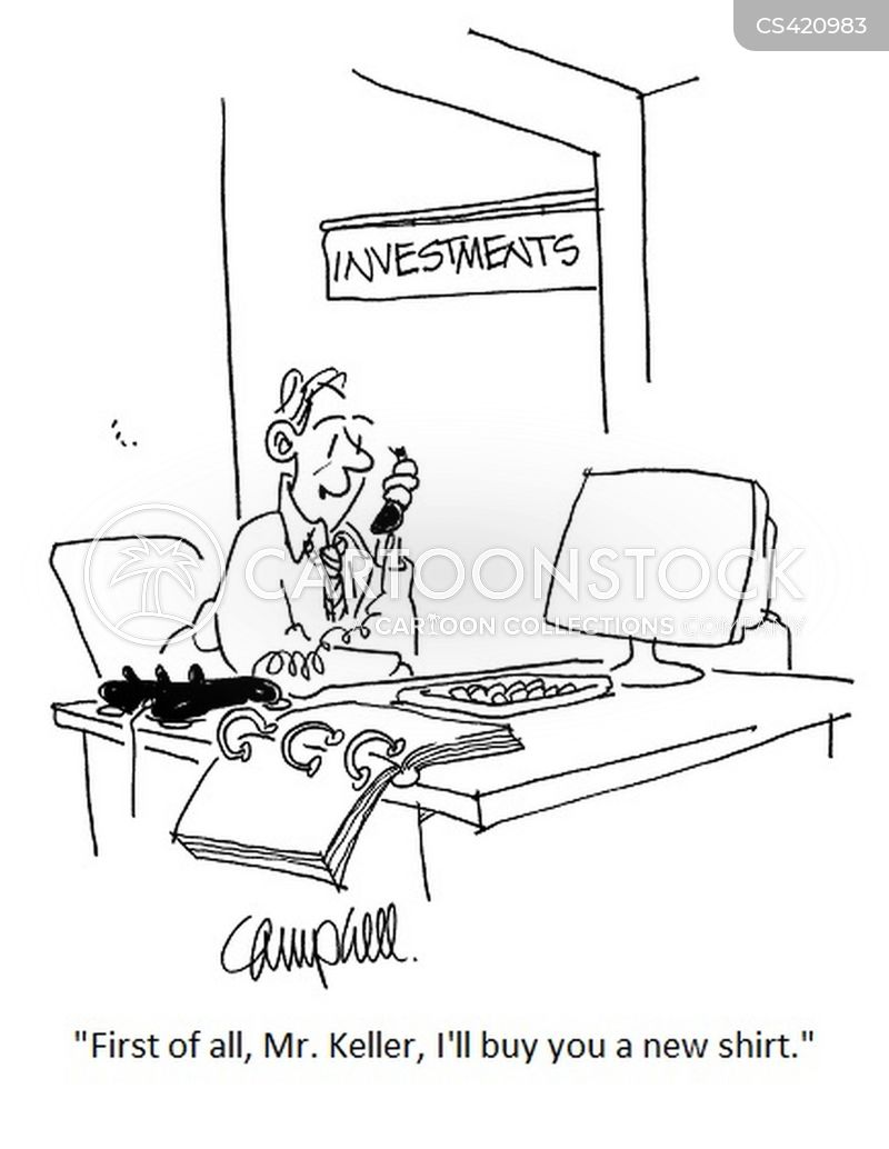 investment counselor cartoon