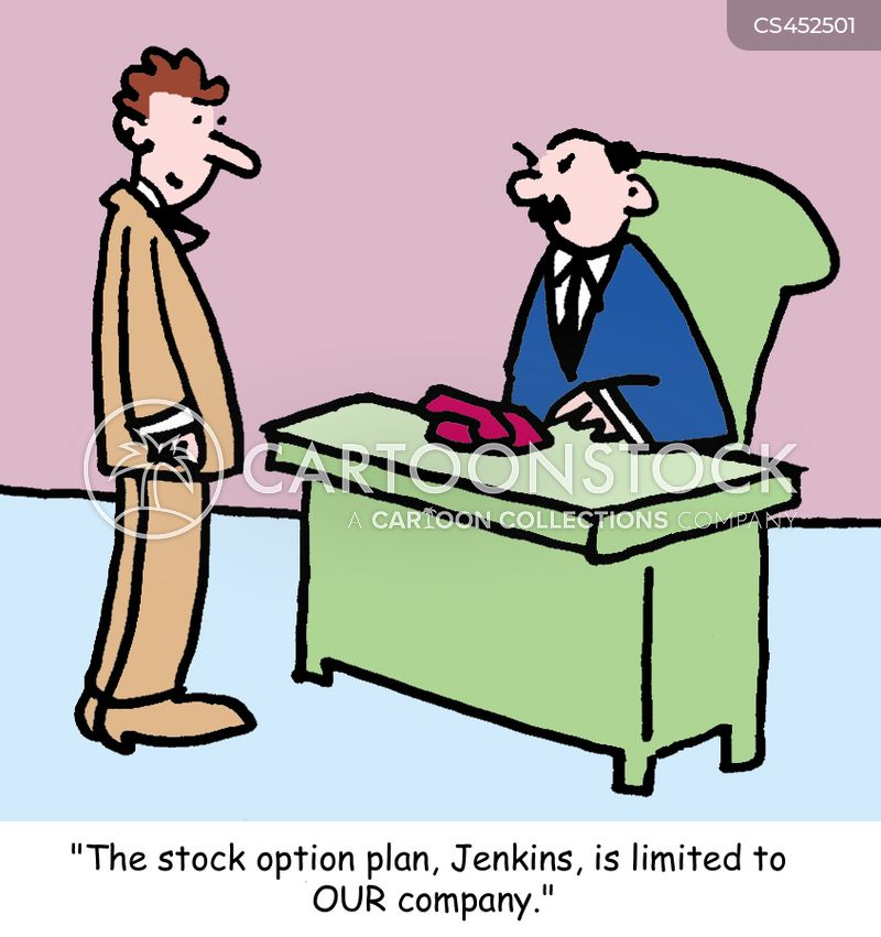 stock options cartoon