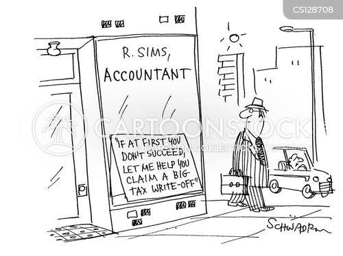 tax write-offs cartoon