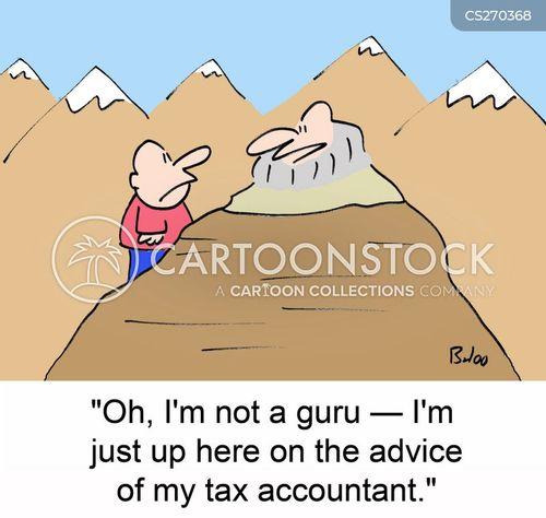 tax accountant cartoon