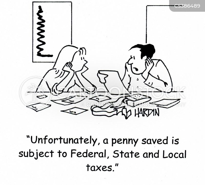 state taxes cartoon
