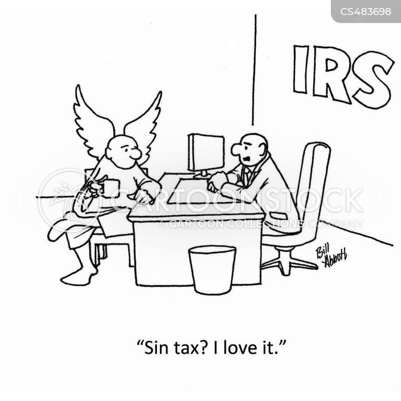 sin tax cartoon