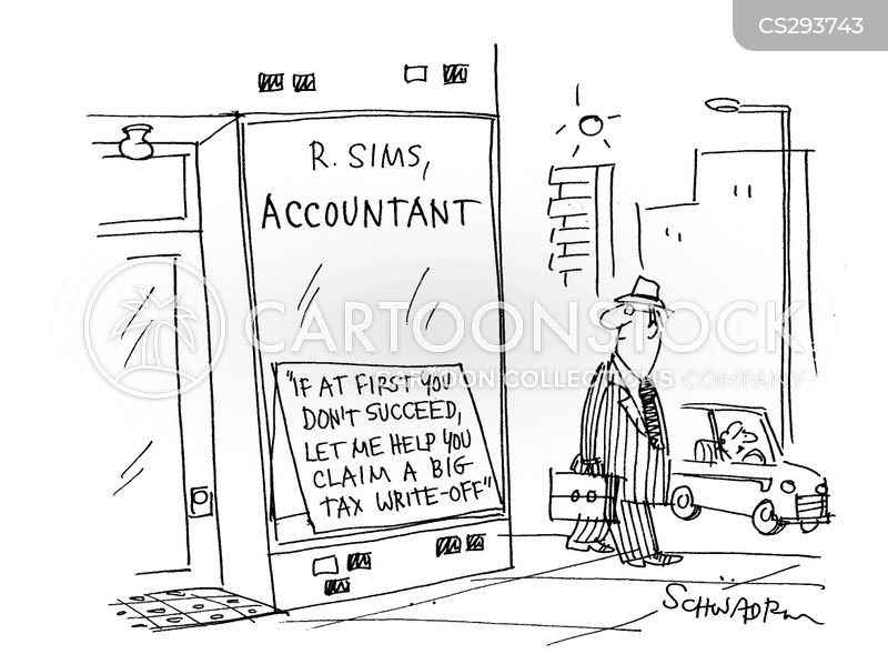 accountant firm cartoon