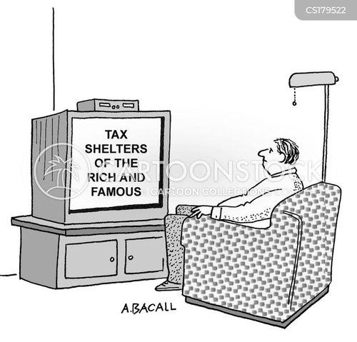tax loopholes cartoon