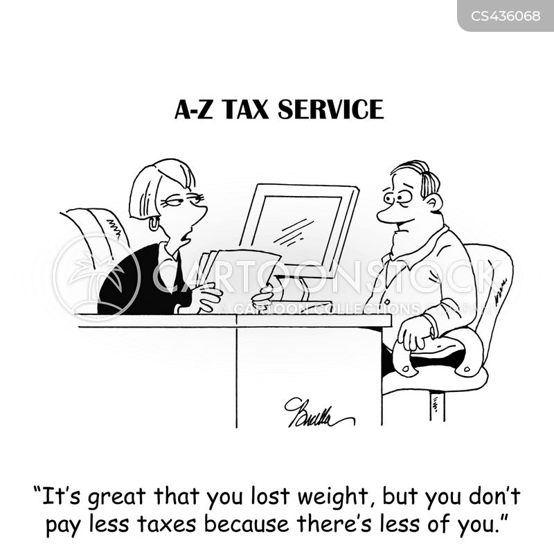 tax service cartoon