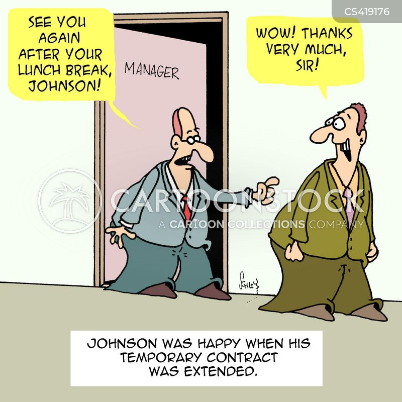 Temporary Contract Cartoons And Comics - Funny Pictures From