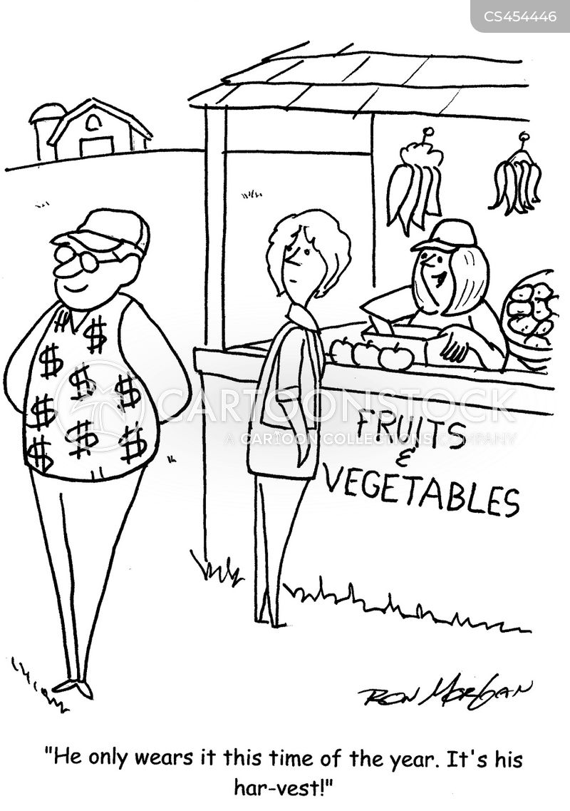 vegetable stand cartoon