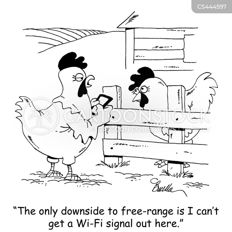 cage-free cartoon