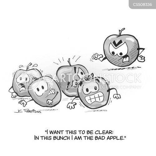 rotten fruits cartoon
